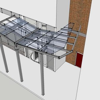 Hotel Canopy Design | Hyatt Regency NYC (top view)