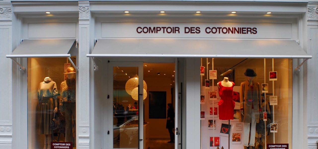 exterior comptoir de cotonniers retail architecture and retail design by kohn architecture nyc