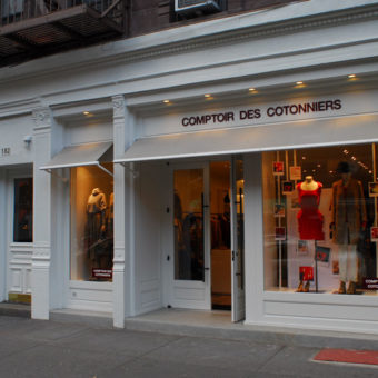 exterior facade retail architecture for comptoir des cotonniers by kohn architecture nyc