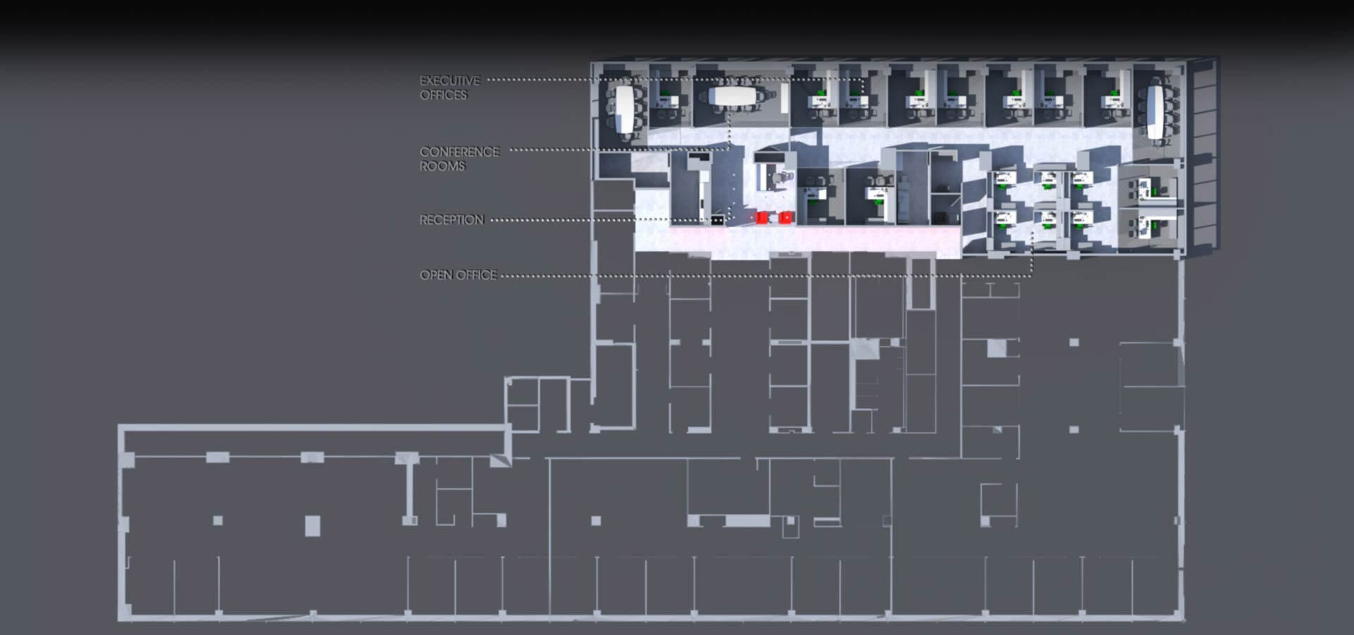 blueprint of architectural plans of nyc nintendo office designed and architected by kohn architecture nyc