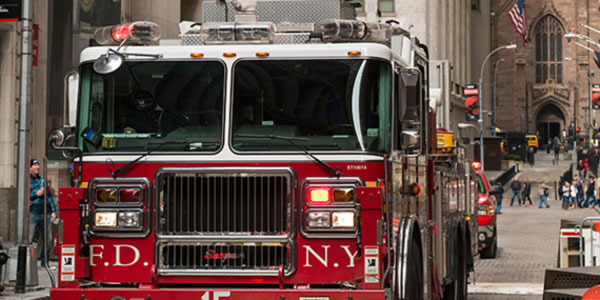 Fire Engine on the streets of NYC.